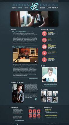 Jordan English Music - Website Redesign by Rachel Foster, via Behance
