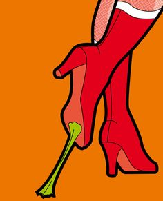 Sticky situation. The secret life of heroes - WonderBrake Art Print by Greg-Guillemin