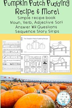 Fully engage your learner(s) during speech therapy with this simple recipe booklet that will improve vocabulary and following directions. Additional activities include answering WH questions with multiple choice and fill in the blank, sorting nouns/verbs/ Wh Questions, This Or That Questions, Improve Vocabulary, Articulation Games, Nouns And Verbs, Activities For Adults, Speech Therapy Activities, Multiple Choice, Speech And Language