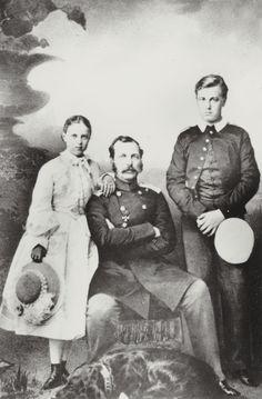 """Tsar Alexander II of Russia with his children,Grand Duke Alexei  Alexandrovich Romanov of Russia and Grand Duchess Maria Alexandrovna Romanova of Russia. """"AL"""""""