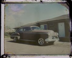 Bleached Polaroid negative.