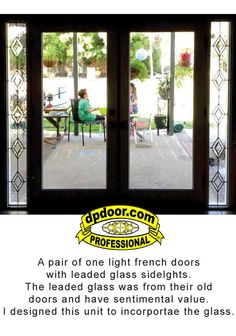 8 Foot French Wood Doors With Sidelights Installed In House To Patio  Doorway.