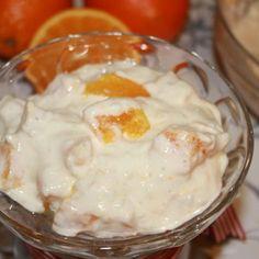 Appelsinris på 2 minutter | Spiselise Pudding Desserts, Frisk, Food And Drink, Breakfast, Cakes, Morning Coffee, Custard Desserts, Mudpie, Cake