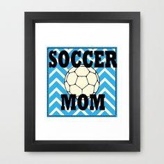 Soccer Mom Framed Art Print