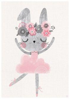 Set of 3 Baby bunny ballerina nursery art Girls Room Nursery Prints, Nursery Wall Art, Ballerina Nursery, Baby Ballerina, Watercolor Clipart, Lapin Art, Clipart Baby, Dinosaur Nursery, Bunny Art