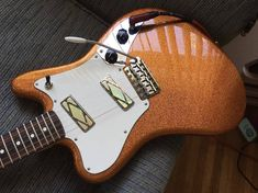 Dang this thing is cool! @leoleoband's Fender Pawn Shop era Super-Sonic is looking mighty fine with the sparkle copper finish!  #Stringjoy #Geartalk #Guitarist #GearNerds #GuitarPlayer #GearWire #KnowYourTone #GuitarGear #Guitar #CleanTone #ToneForDays | Create your custom string set today at Stringjoy.com #guitar #guitars #electric #acoustic #bassguitar