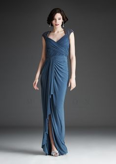 Fashionably Yours - Sofie Embellished Draped Gown In Sable, $503.80 (http://www.fashionably-yours.com.au/sofie-embellished-draped-gown-in-sable/)