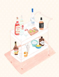 drinks cart by amy borrell