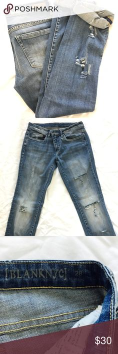 """BlankNYC JEANS BlankNYC JEANS Amazing condition! Super cute, comfy and long. I'm 5'8"""" and unrolled they hit the floor Free People Jeans Straight Leg"""