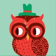 "owl from ""Seasonal Animals"" print, by Amy Blay"