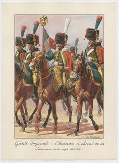 Garde Impériale - Chasseurs à cheval 1804-1815: Lieutenant porte-aigle 1804-1812