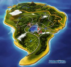 Jurassic World Map from the Jurassic world website. Jurassic Craft, Jurassic World Movie, Lego Worlds, Tyrannosaurus Rex, Prehistoric Animals, Cool Kids, Kids Fun, Deviantart, Awesome Stuff