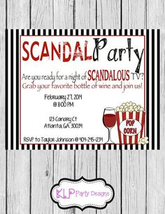 Scandal Party Invitation on Etsy, $10.00 Scandal Party