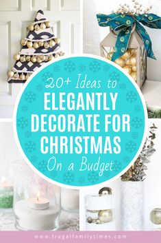 Get creative ideas on how to turn dollar store supplies into elegant Christmas décor! Your guests will never guess your Christmas decorations were so affordable and easy to make! Decor Style Home Decor Style Decor Tips Maintenance home
