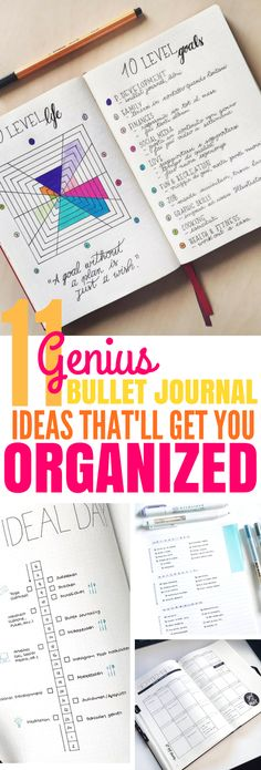 These 11 Bullet Journal Ideas Are Great For Making A Lifestyle Change! They'll help you get organized and maybe even bring on the New Year on the right foot! #bulletjournal #newyear #organize #diy #journal