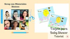 Tutorial DIY / Scrap con materiales basicos / Tarjeta para baby shower