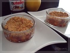 Crumble pommes nutella