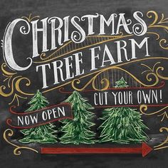 Add a little whimsy to your home this Season with this adorable wooden Chalk Christmas Tree Farm sign! Real Christmas Tree, Christmas Tree Farm, Country Christmas, Beautiful Christmas, All Things Christmas, Christmas Time, Christmas Foods, Merry Christmas, Xmas