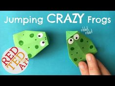 Easy Jumping Frog Origami - Red Ted Art's Blog