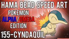 Hama Bead Speed Art   Pokemon   Alpha/Omega   Timelapse   155 - Cyndaquil