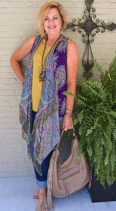 50 IS NOT OLD | BOHO STYLE, FRINGE AND BANGLES | Fall Colors | Fashion over 40 for the everyday woman