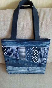 55 trendy patchwork denim bag purses - Image 9 of 25 Patchwork Bags, Quilted Bag, Denim Patchwork, Denim Quilts, Crazy Patchwork, Patchwork Quilting, Patchwork Patterns, Purse Patterns, Denim Bag Patterns