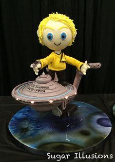 Star Trek Enterprise cake by Stacy Coderre