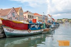 Colorful Boats in Willemstad Curacao