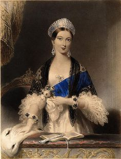 Queen Victoria was fashion conscious before her marriage as demonstrated in this well-known portrait of her at the theater. Queen Victoria at Drury Lane Theater by Edmund Thomas Paris (location unknown to gogm) Queen Victoria Birthday, Queen Victoria Family, Queen Victoria Prince Albert, Victoria And Albert, Princess Victoria, Reine Victoria, Victoria Reign, Images Of England, Kensington