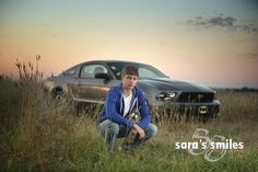 Senior boy poses with his mustang car on outdoor session on location during summer morning in a wheat field Senior Boys, Senior Boy Poses, Senior Portrait Poses, Senior Year, Male Portraits, Girl Poses, Photo Poses For Boy, Picture Poses, Picture Ideas