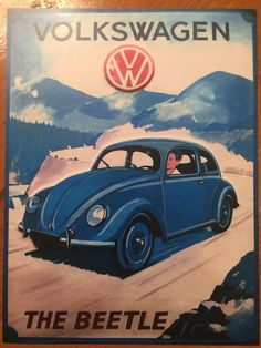 $11.99 - Tin Sign Vintage Volkswagen The Beetle Vw #ebay #Collectibles