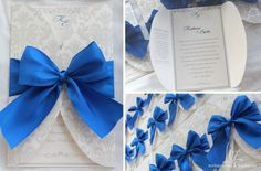 Royal Blue wedding invitations!