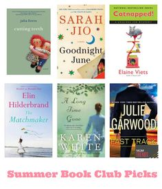 Summer Book Club Picks. Great reads for the summer.