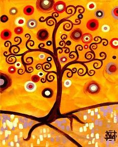 Art 'Flourishing Tree' - by Natasha Wescoat from Jeweled Trees Gustav Klimt, Tree Of Life Art, Tree Art, Dreams Catcher, Teen Wallpaper, Murals Your Way, Dot Painting, Circle Painting, Art Portfolio