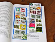 Postage Stamp Craft: Handmade Bookmarks