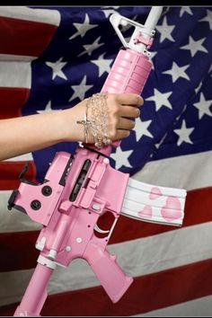 My wife took one look and decided she now wants one of these rifles. Airsoft, Big Girl Toys, Toys For Girls, Rifles, Pink Guns, Love Gun, Cool Guns, Awesome Guns, Everything Pink