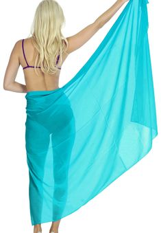 8f8c458162e1a HAPPY BAY - HAPPY BAY Beach Women Wrap Sarong Swim cover up Hawaiian Skirt  swimwear Chiffon Plain - Walmart.com