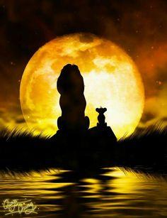 Diamond Painting Lion King Simba and Mufasa Silhouette Kit Arte Disney, Disney Love, Disney Magic, Hakuna Matata, Lion King Timon, Disney Lion King, Le Roi Lion Film, Lion King Fan Art, Disney Paintings
