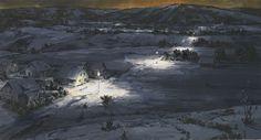 Sven Kroner (German, b. 1973), Winterlong, 2008. Acrylic on canvas, 160 x 300 cm
