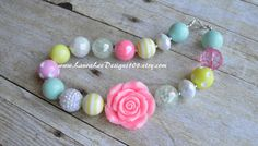 READY TO SHIP Light Pink Mint Light Yellow by LauraLeeDesigns108
