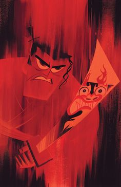 Bill Wray - Samurai Jack. The reflection of Aku on Samurai Jack's sword and the…
