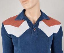 De Colección 1970's Left Bank Terry Cloth Chevron a rayas de Superdry ajustada de Hippie Hipster S