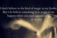 "Magical quote from Harry Potter author JK Rowling reminding us to enjoy the ""magic"" a good audiobook can bring."
