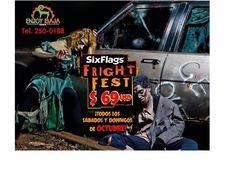 SIX FLAGS FRIGHT FEST 2015 | PROMOCIÓN Costo $ 64 USD. Para cualquier SÁBADO O DOMINGO de OCTUBRE.  Si reservas los días 17 18 y 19 de SEPTIEMBRE. Grita de miedo y Disfruta con ENJOY BAJA TOURS!   Sábados 03 de Octubre   Domingos 04 de Octubre  Incluye transporte | Boleto de entrada | Seguro Viajero  Salida Tijuana 5:00 AM | Regreso 12:00 AM Sábados Y  11:00 PM Domingos del Parque.   Costo real $69 USD.  Informes : 250-0188 864-7277 414-1578 414-1703. enjoybajatours@gmail.com.