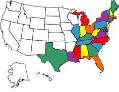 All the states I've visited, y'all