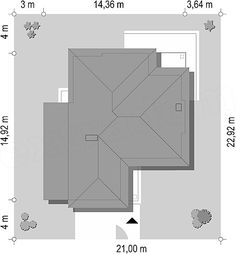 Rzut projektu Riwiera 4 Architecture Drawing Art, Architectural House Plans, How To Plan, Home Decor, Home Plans, Decoration Home, Room Decor, Home Interior Design, Home Decoration