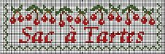 Points de croix *♥* Cross stitch sac à tarte