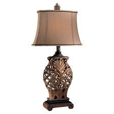 """Romance Jessica McClintock 33"""" H Table Lamp with Bell Shade"""
