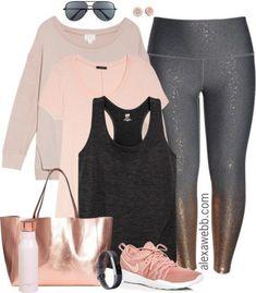 38b7e1addb738 Plus Size Rose Gold Workout Clothes - Plus Size Activewear - Plus Size  Fashion for Women - alexawebb.com  alexawebb