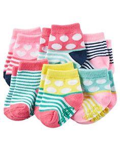 Carter's Baby Girls' 6-Pack Socks Pink/Multi, 12-24 Month...